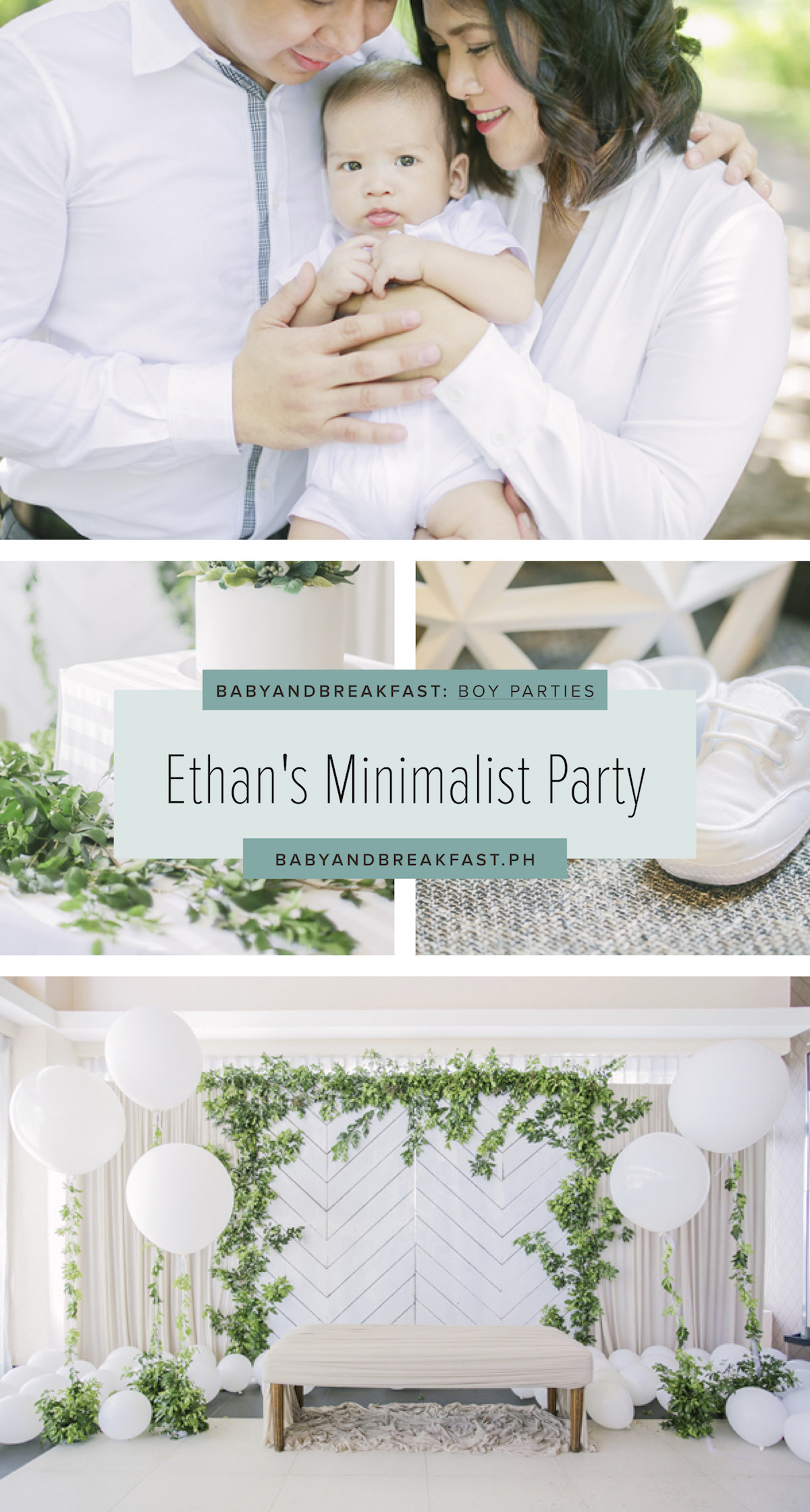 Baby and Breakfast: Boy Parties Ethan's Minimalist Party