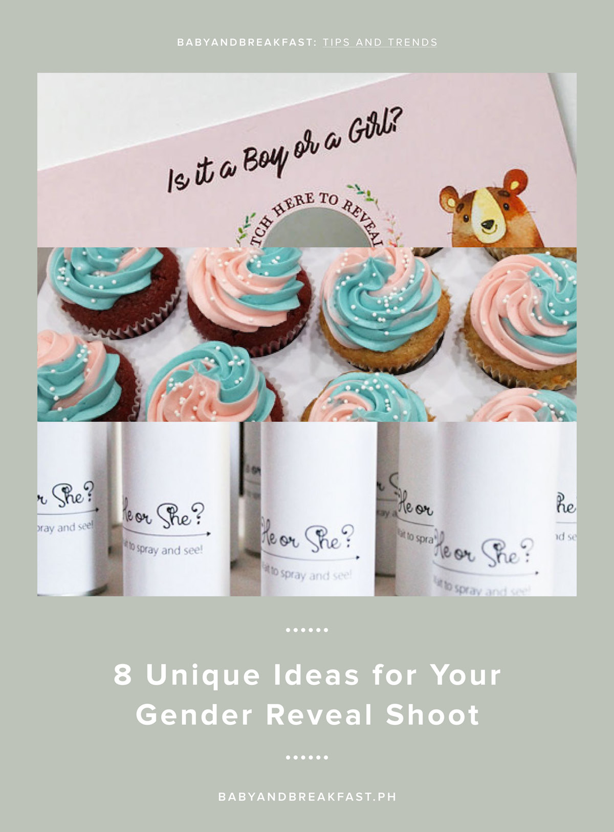 Baby and Breakfast: Tips and Trends 8 Unique Ideas for Your Gender Reveal Shoot