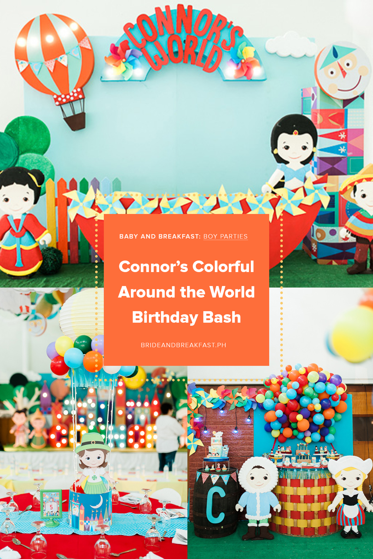 Baby and Breakfast: Boy Parties Connor's Colorful Around the World Birthday Bash