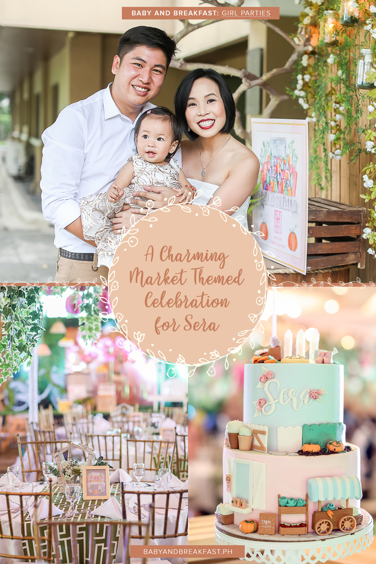 Baby and Breakfast: Girl Parties A Charming Market Themed Celebration for Sera