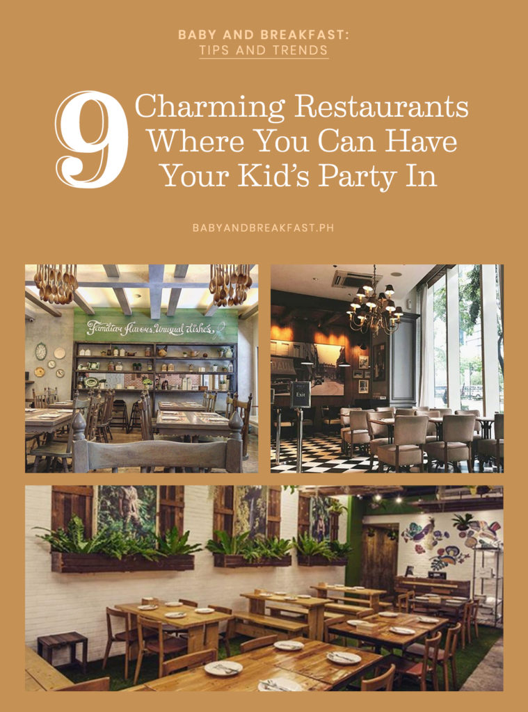 Baby and Breakfast: Tips and Trends 9 Charming Restaurants Where You Can Have Your Kid's Party In