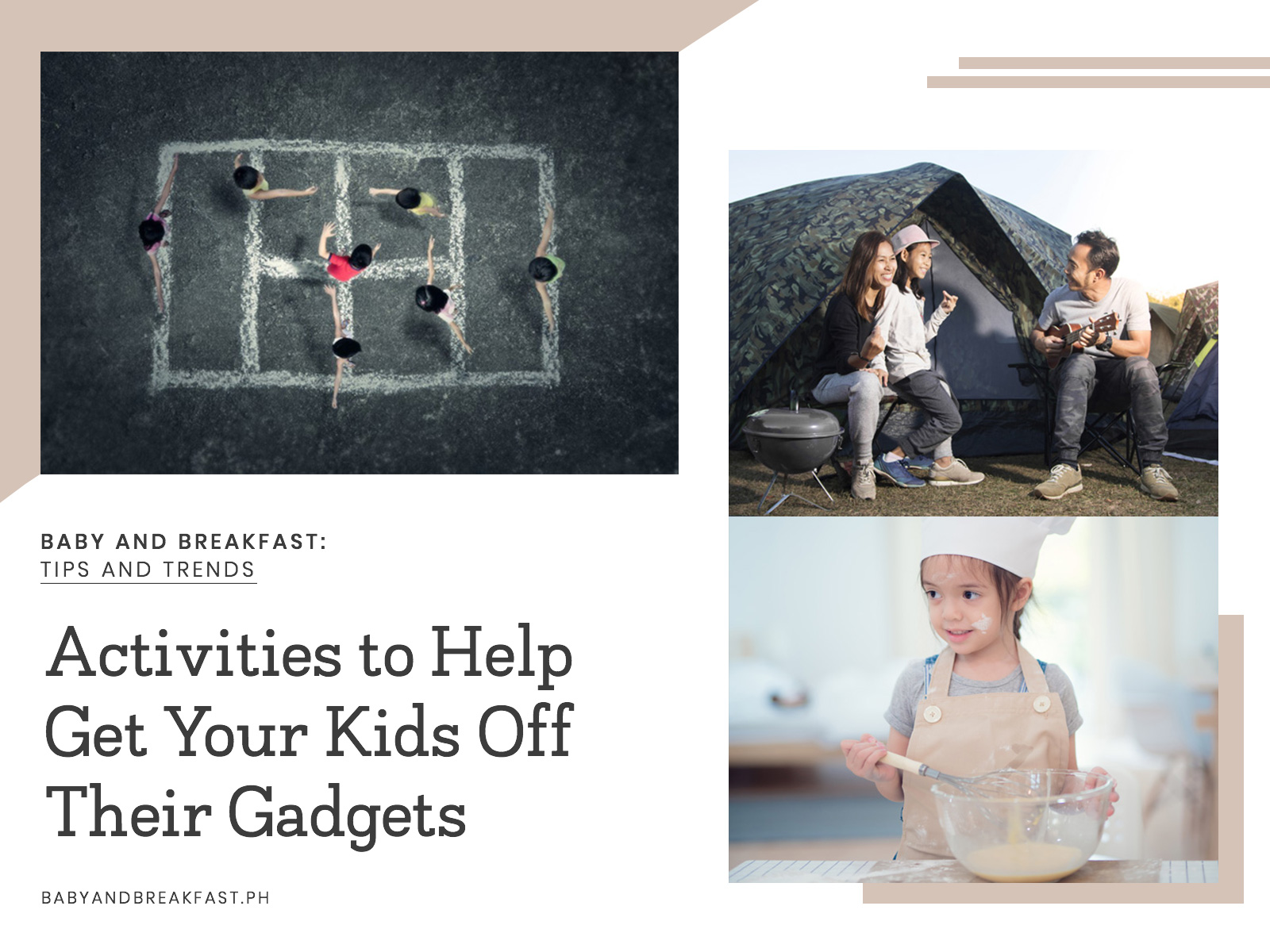 Baby and Breakfast: Tips and Trends Activities to Help Get Your Kids Off Their Gadgets