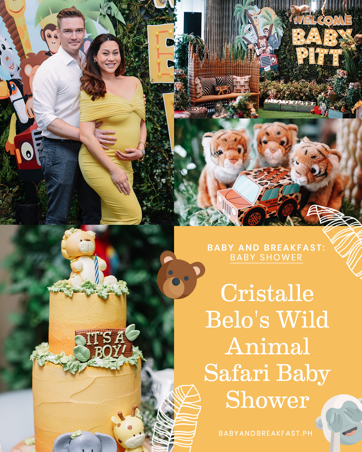Baby and Breafkast: Baby Shower Cristalle Belo's Wild Animal Safari Baby Shower