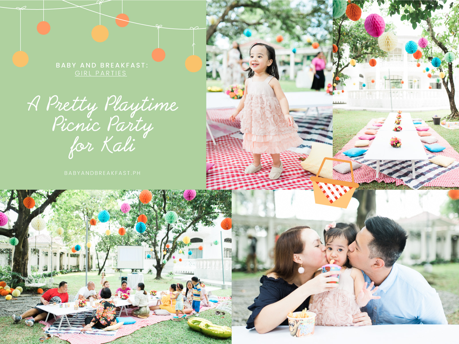 Baby and Breakfast: Girl Parties A Pretty Playtime Picnic Party for Kali