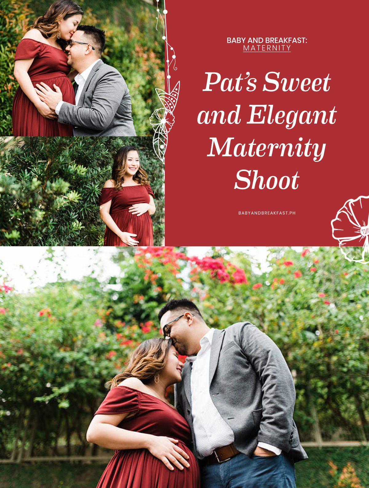 Baby and Breakfast: Maternity Pat's Sweet and Elegant Maternity Shoot