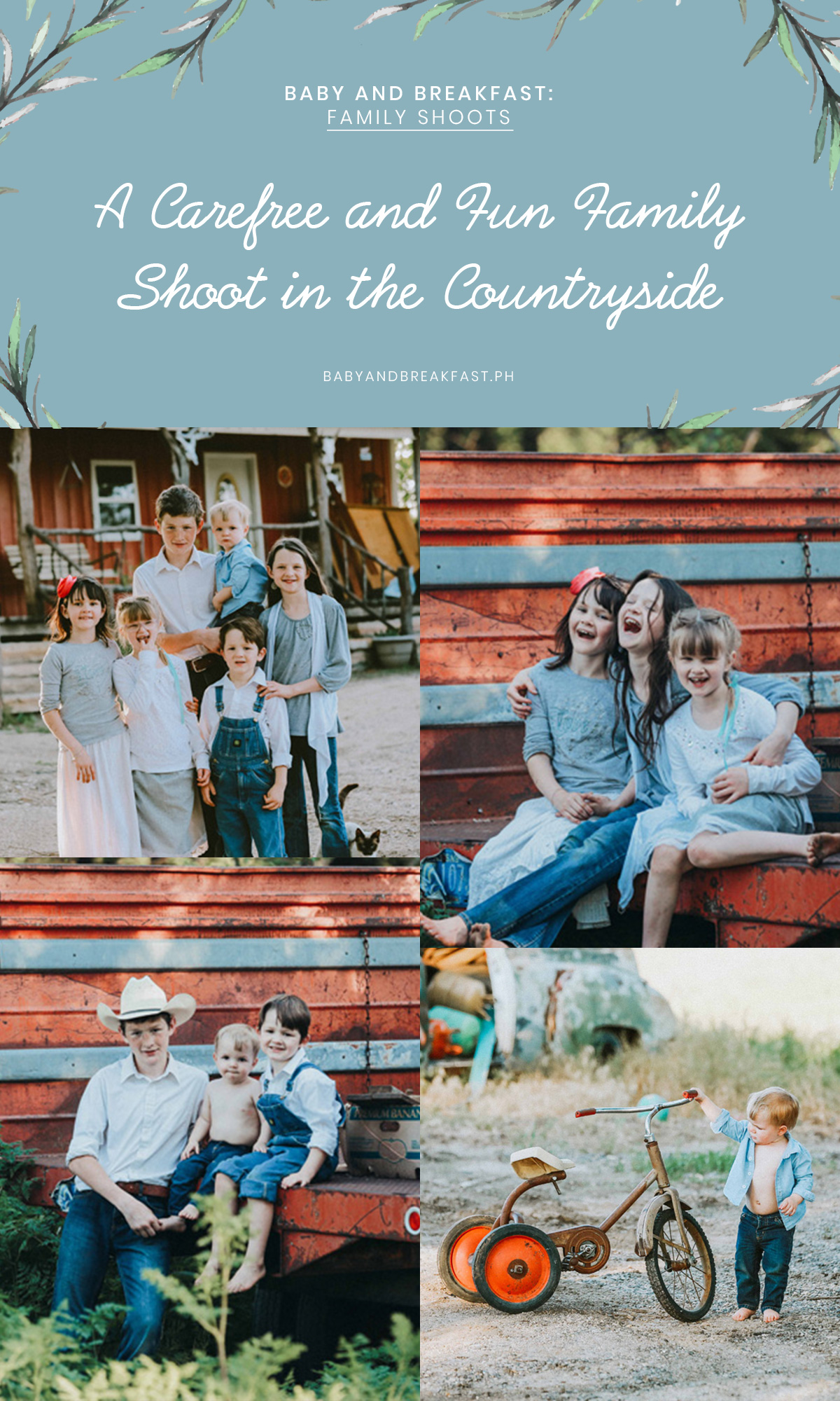 Baby and Breakfast: Family Shoots A Carefree and Fun Family Shoot in the Countryside